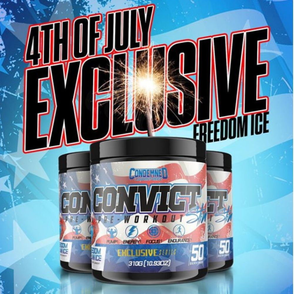 "Condemned Labz Convict Pre-Workout Getting New Limited Edition ""Freedom Ice"" Flavor"