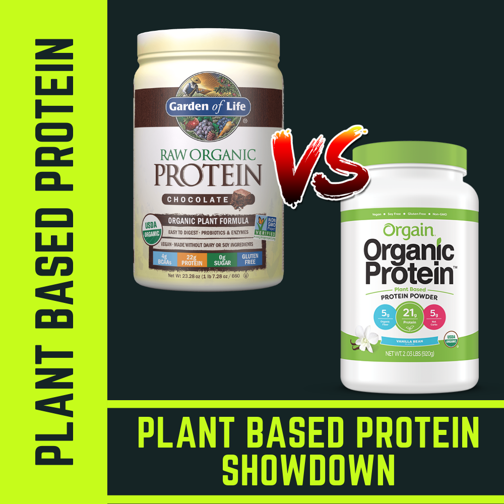 Orgain Organic Protein vs. Garden of Life Raw Organic Protein | Battle of the Plant Based Proteins