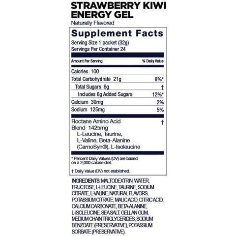 GU Energy Packet Strawberry Kiwi Supplement Facts