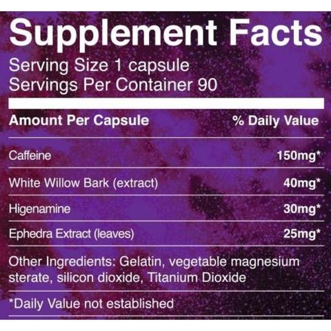 IronMag Labs Ephedra Stack Supplement Facts