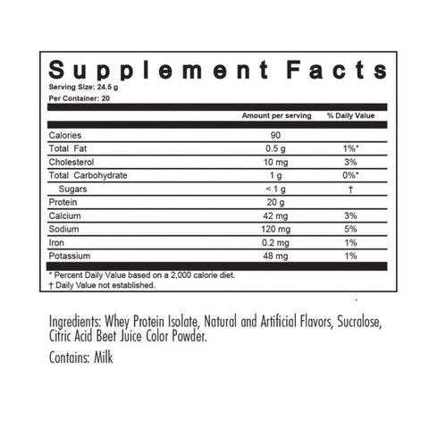 Modern ISO Whey Protein Isolate Supplement Facts