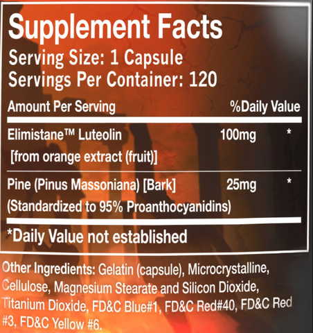 Olympus Labs Elim1nate Ingredient Label
