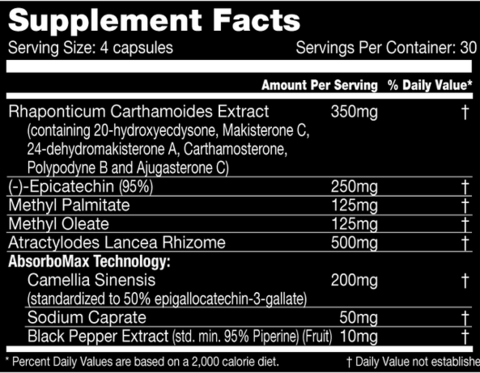 Performax MassMax Supplement Facts