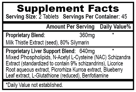 APS Nutrition Liver-MD Supplement Facts