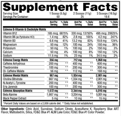 Metabolic Nutrition ESP Extreme Supplement Facts
