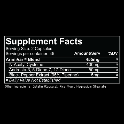 REPP Sports Arimivar Supplement Facts