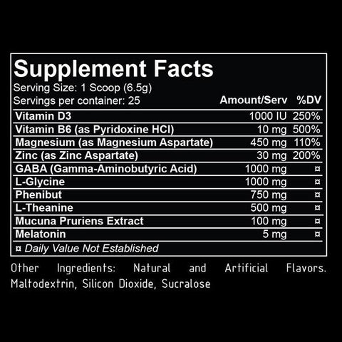 REPP Sports Hyper Sleep Supplement Facts