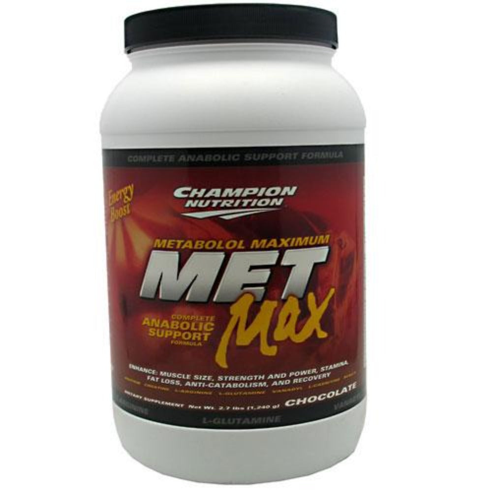 Champion Nutrition Met Max 2.7 lbs (1240 g) Protein Champion Nutrition Chocolate  (1058913255467)