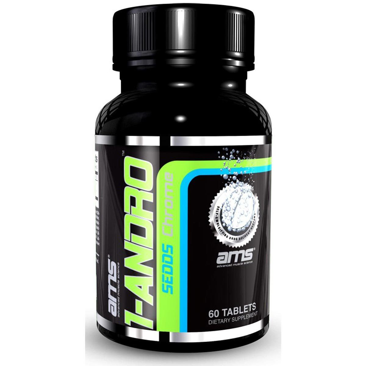 Advanced Muscle Science 1-ANDRO CHROME 60T Testosterone Boosters Advanced Muscle Science  (1059303653419)
