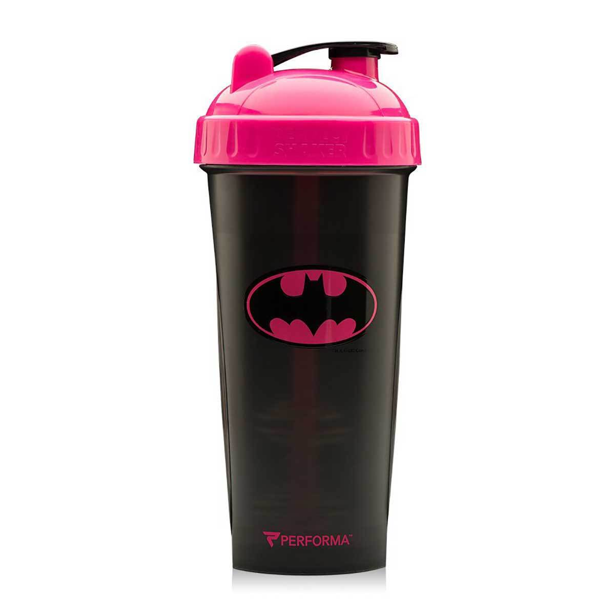 Pink Batman Shaker Bottle 28oz Fitness Accessories and Apparel PerfectShaker  (1059298639915)