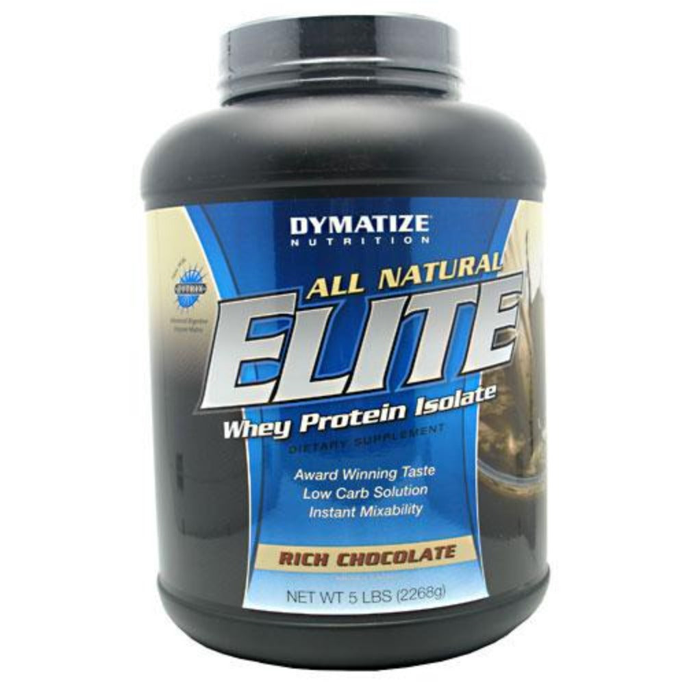 Dymatize All Natural Elite Whey 5 Lbs Protein Dymatize Rich Chocolate  (1058764783659)