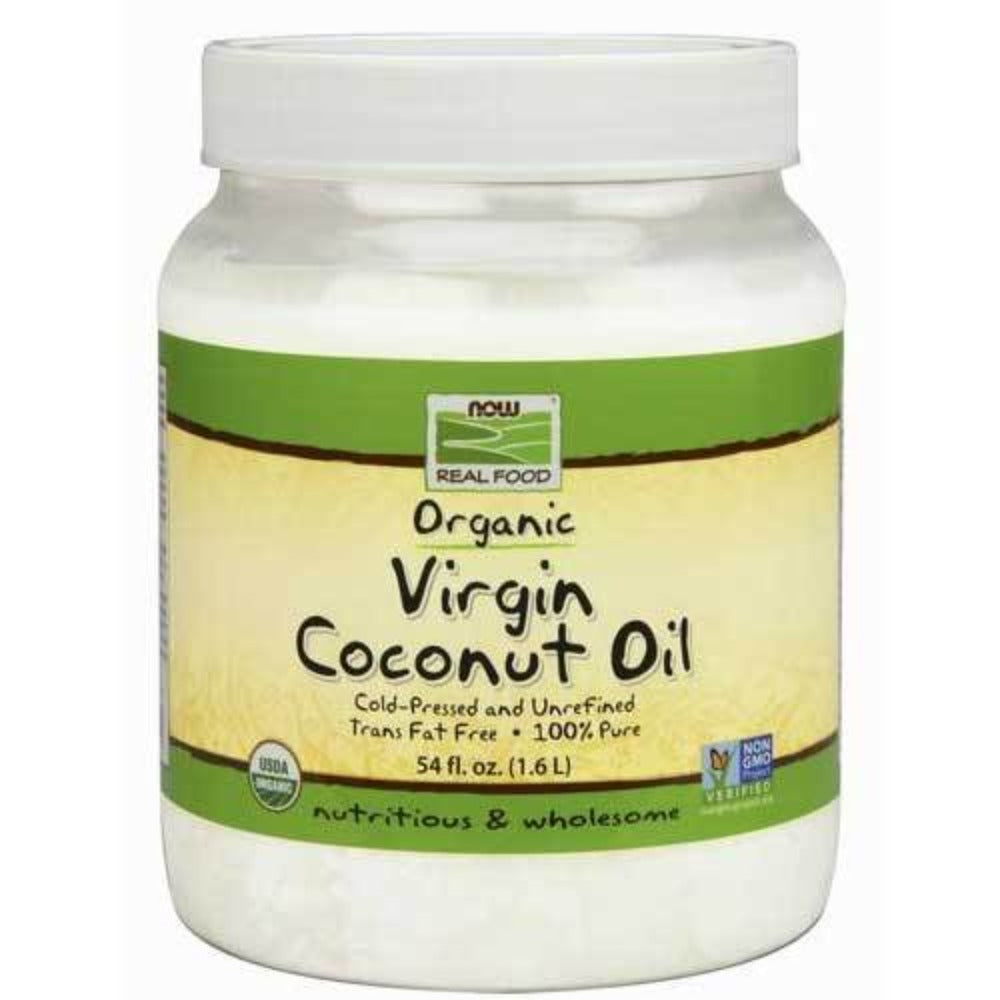 Now Foods Organic Coconut Oil Virgin 54 Oz Foods & Snacks Now Foods  (1059132604459)