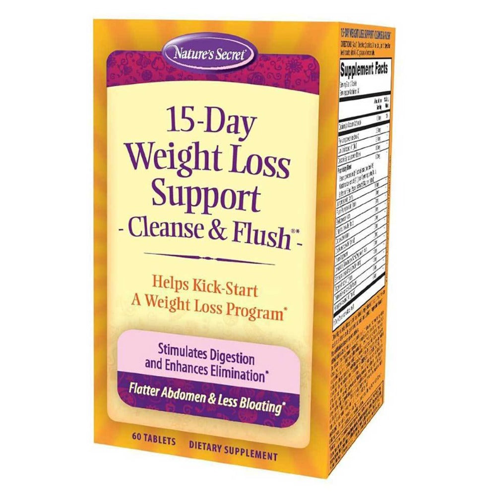 Nature's Secret 15 Day Weight Loss Cleanse and Flush 60 Tabs Digestive Health / Probiotics Nature's Secret  (1057869135915)