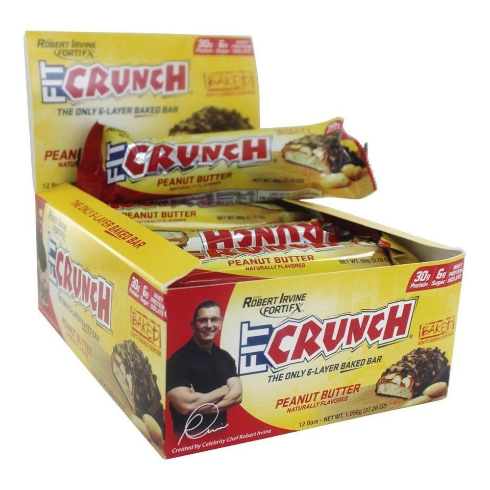 FortiFX Fit Crunch Bars 12/Box Protein FortiFX  (1059041247275)
