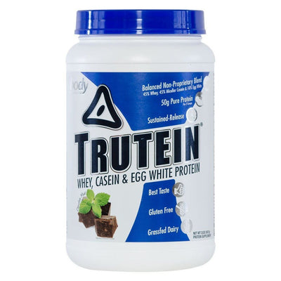 Body Nutrition Trutein 2 Lbs Protein Body Nutrition Chocolate Mint  (1058634203179)
