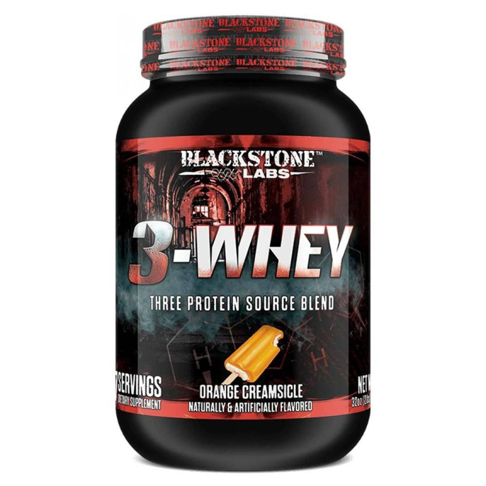 3-Whey Orange Creamsicle 27 Servings Protein Powders Blackstone Labs  (1516594495531)