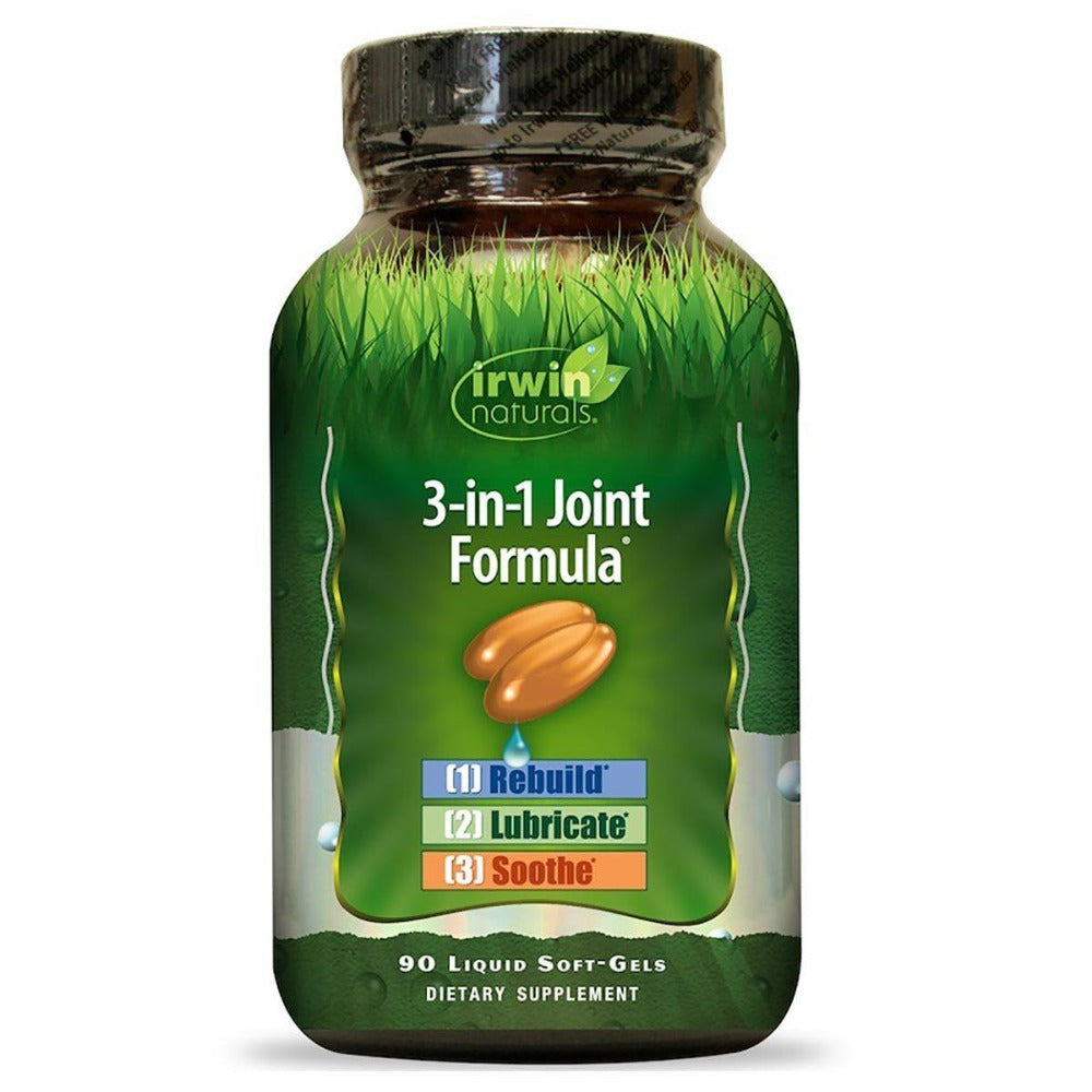 Irwin Naturals 3-in-1 Joint Formula 90 Liquid Soft Gels Joint Aids Irwin Naturals  (1058011643947)