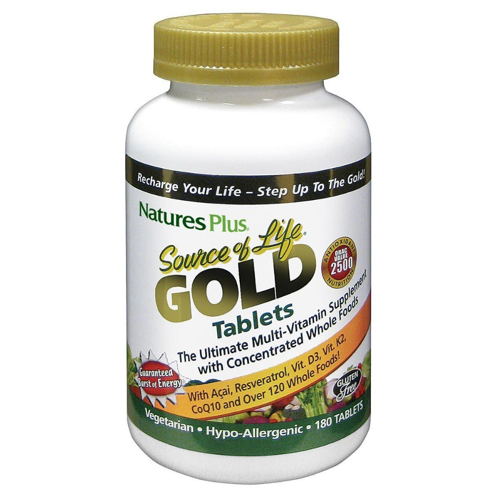 Nature's Plus Source of Life Gold 180 Tablets Vitamins Nature's Plus  (1058775203883)