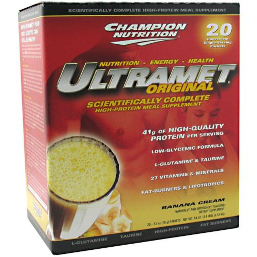 Champion Nutrition UltraMet 20 Pack Champion Nutrition Strawberry  (1058954117163)