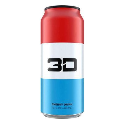 3D ENERGY DRINK 12/CASE Drinks UP ENERGY RED, WHITE & BLUE  (1613762002987)