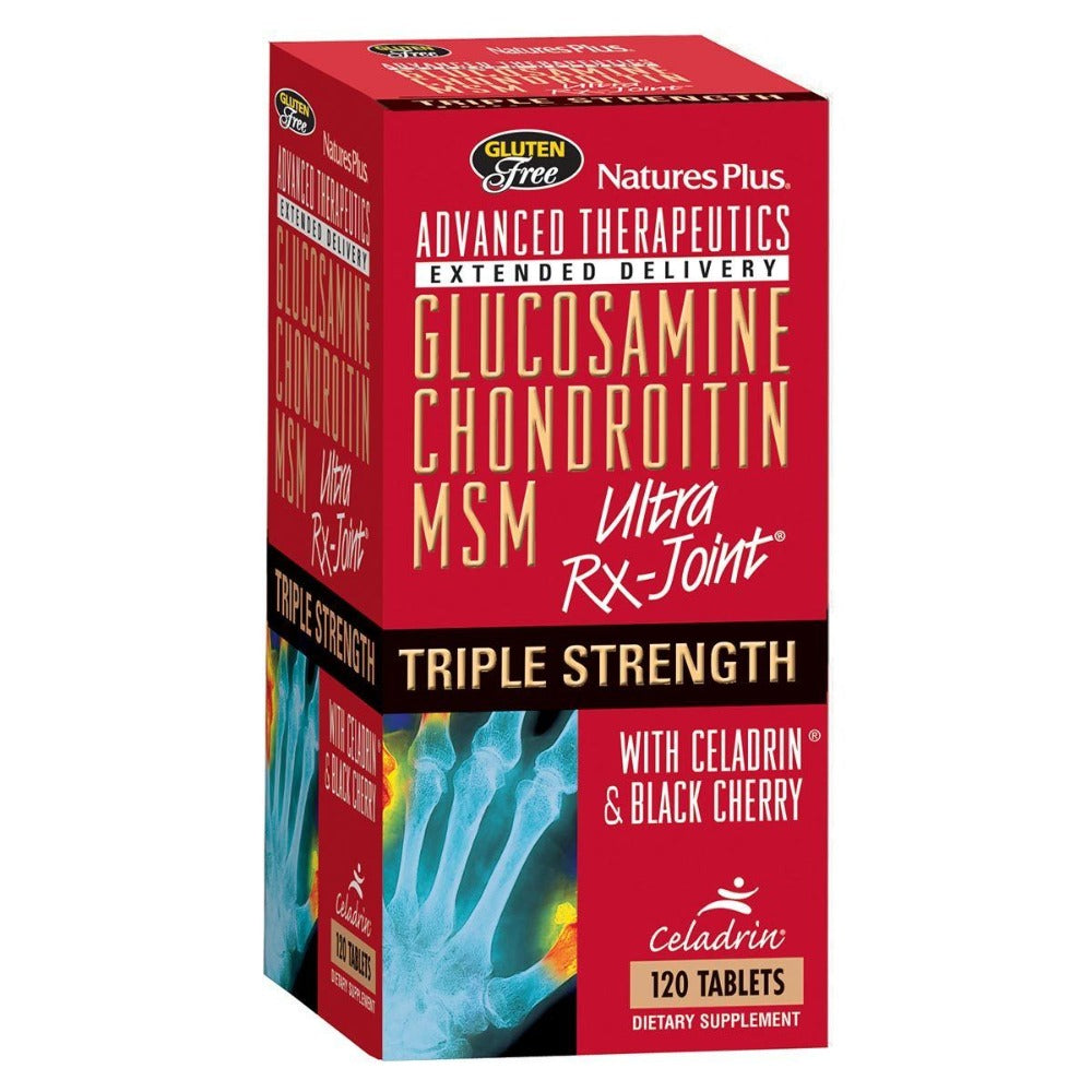 Nature's Plus Triple Strength Ultra Rx-Joint (Glucosamine/Chondroitin/MSM) w/Celadrin and Black Cherry 120 Tabs Joint Aids Nature's Plus  (1058071117867)