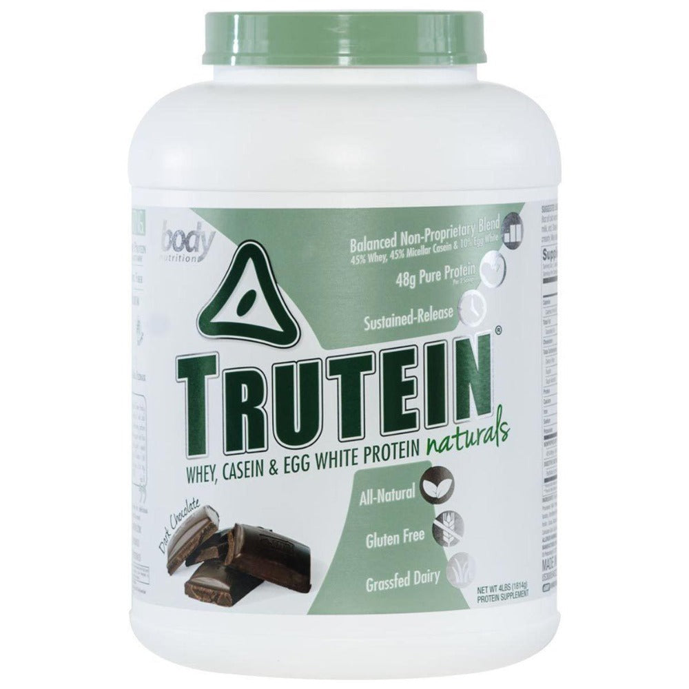 Body Nutrition Trutein Naturals 4 Lbs Protein Body Nutrition Dark Chocolate  (1059233890347)