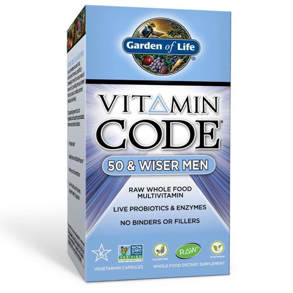 Garden of Life Vitamin Code 50 and Wiser Men's Formula 240 Vege Caps Vitamins Garden of Life  (1058594258987)