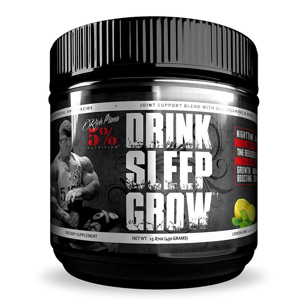 5% Drink Sleep Grow 30 Servings | Amino Acids Sports Performance Recovery 5% Nutrition Lemon Lime  (1747034800171)