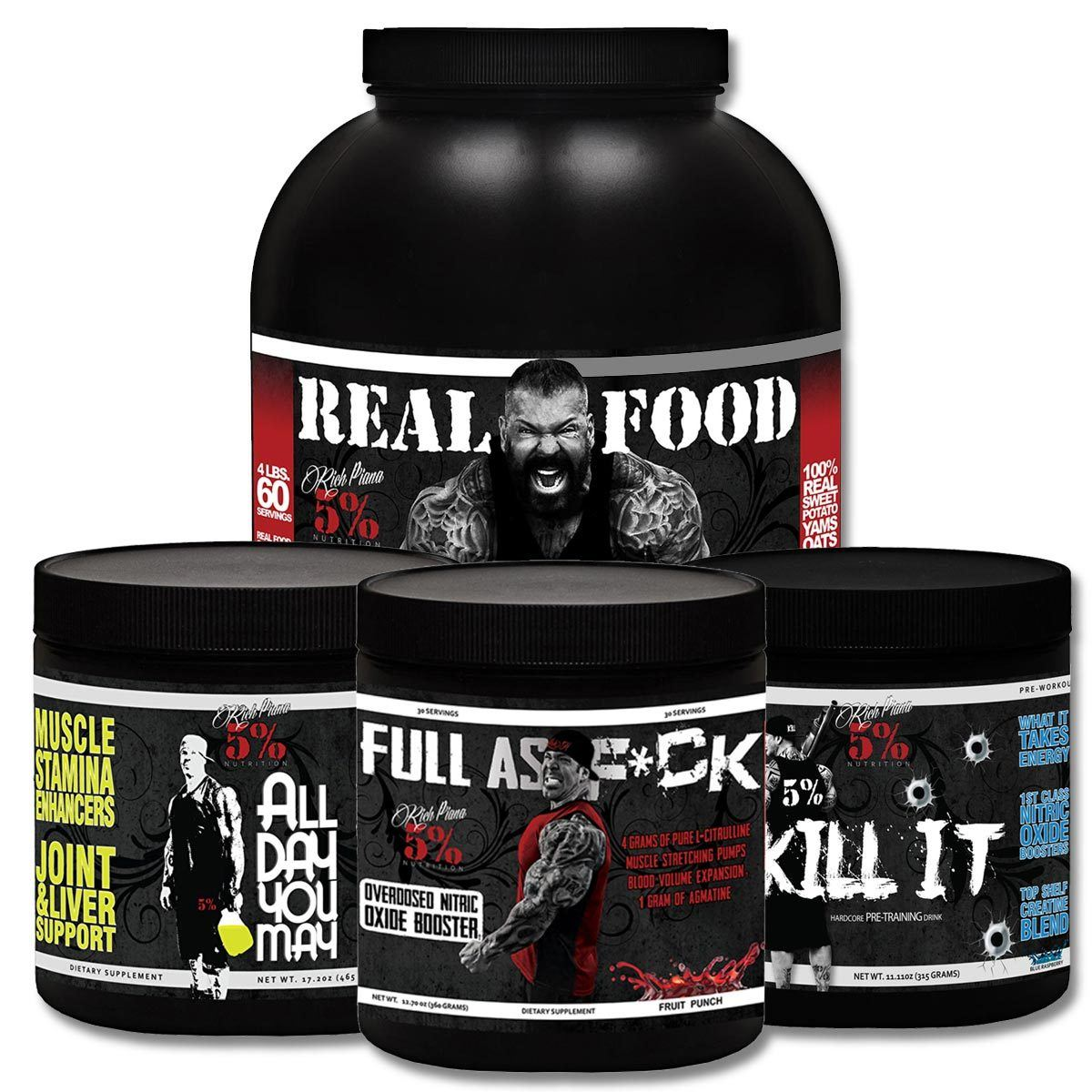 5% Nutrition Eat Dirty Train Dirty Stack Sport Performance / Recovery 5% Nutrition  (1161412476971)