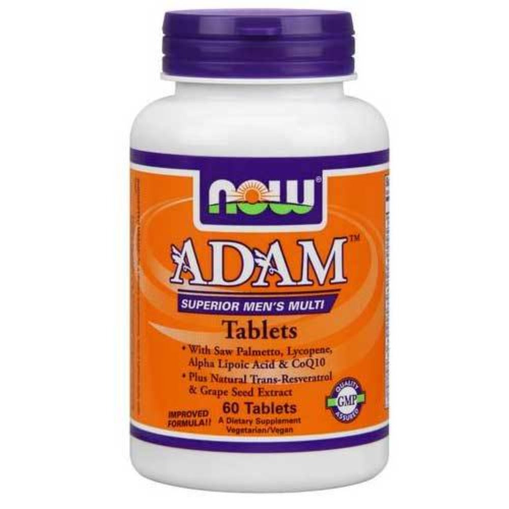 Now Foods Adam Male Multi 60 Tablets Vitamins Now Foods  (1059121889323)