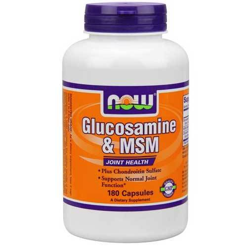 Now Foods Glucos & M.S.M 750/250 Mg 180 Capsules Joint Aids Now Foods  (1059124346923)