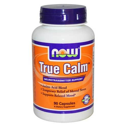 Now Foods True Calm Amino Relaxer 90 Capsules Amino Acids Now Foods  (1059107274795)