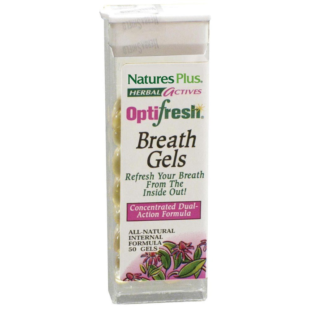 Nature's Plus Optifresh Breath Gels 50 Gels Other Supplements Nature's Plus  (1057910292523)