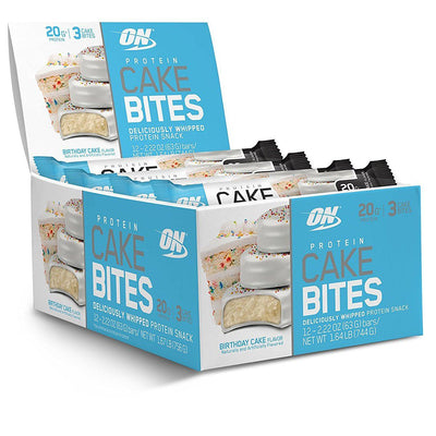 Optimum Nutrition Protein Cake Bites 12/Box Foods & Snacks Optimum Nutrition Birthday Cake  (1059269804075)