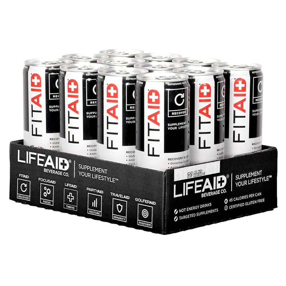 LifeAID Beverage Company FitAID Citrus 12 Fl Oz 24 Pack Diet/Energy LifeAID Beverage Company  (1059241328683)