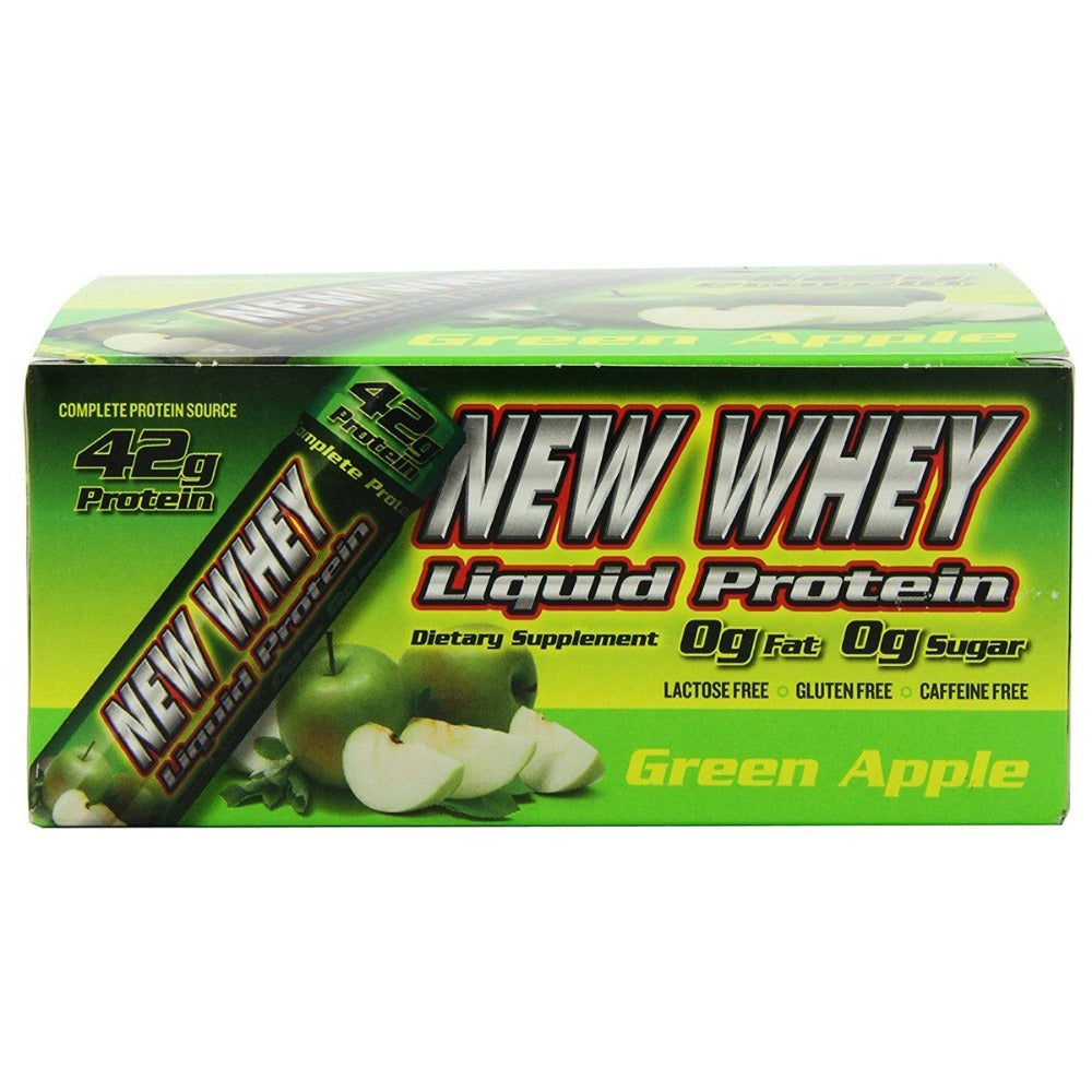 New Whey Nutrition New-Whey RTD 42g 12/Case Protein New Whey Nutrition Green Apple  (1058077638699)