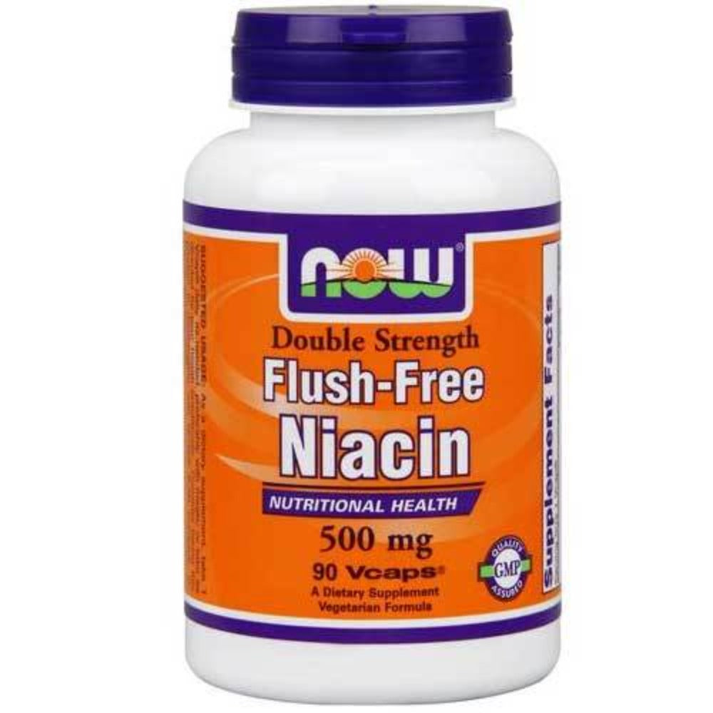 Now Foods Flush Free Niacin 500 Mg 90 Vegetable Capsules Vitamins Now Foods  (1059130736683)