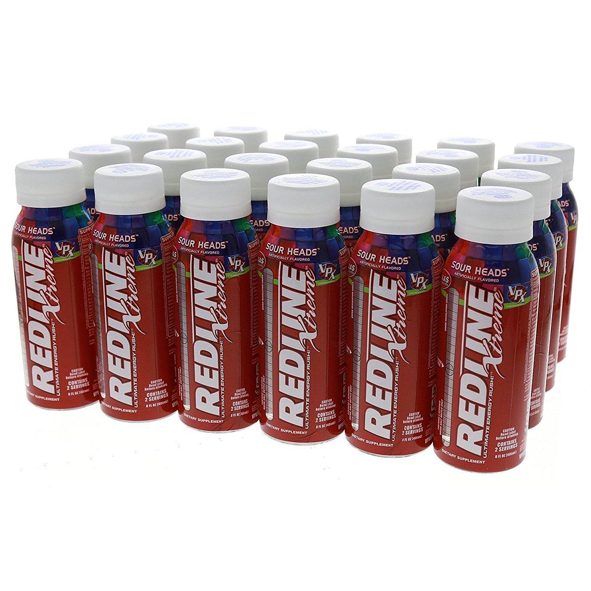 VPX Redline Extreme RTD 24/Case Diet/Energy VPX Sour Heads  (1058083700779)