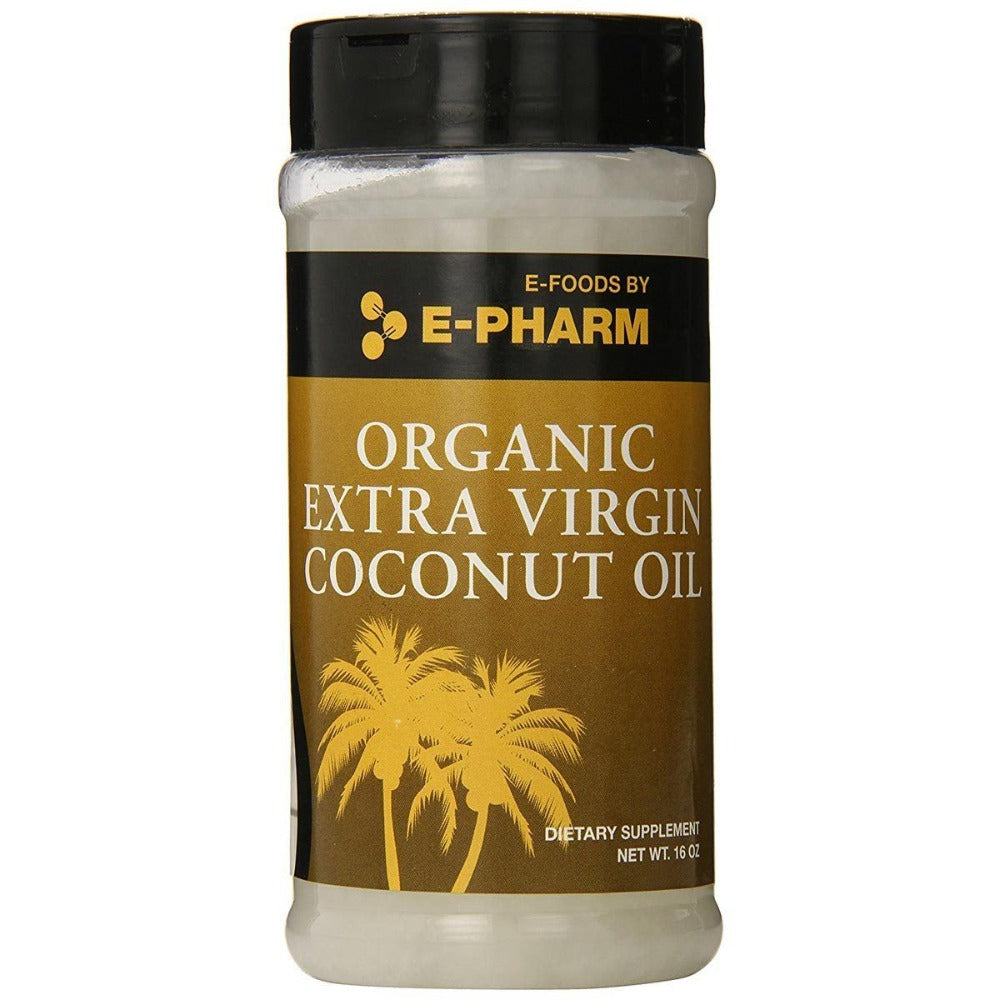 E-Pharm Organic Extra Virgin Coconut Oil 16 Oz Foods & Snacks E-Pharm  (1058919710763)