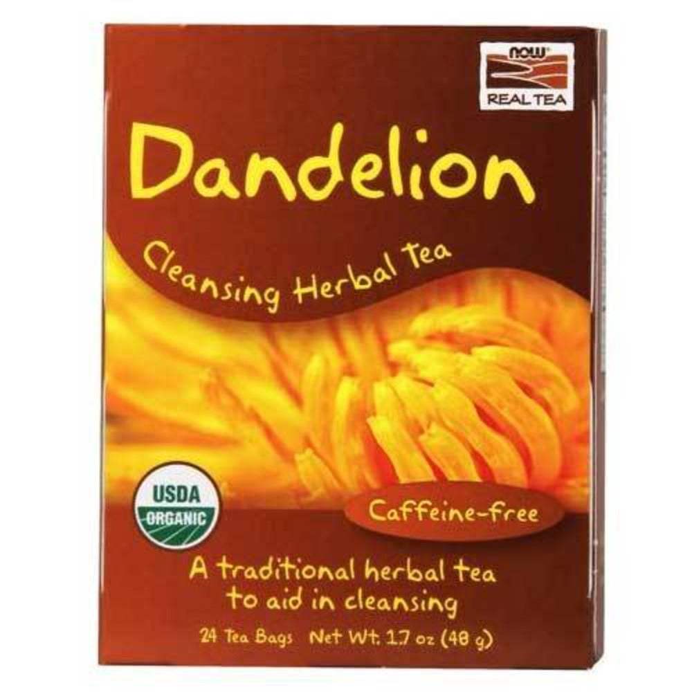 Now Foods Dandelion Tea Bags 24 Bags Teas Now Foods  (1059122774059)