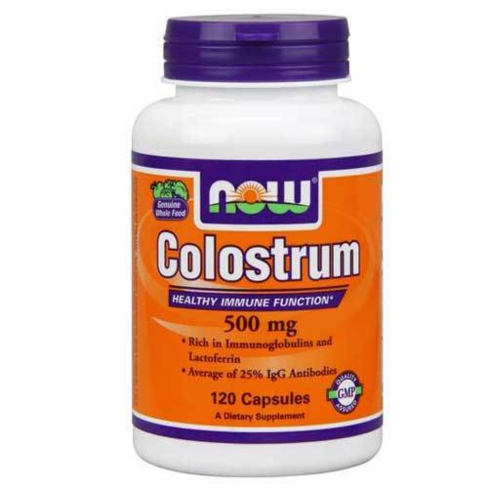 Now Foods Colostrum 500 Mg 120 Capsules Digestive Health / Probiotics Now Foods  (1059113959467)