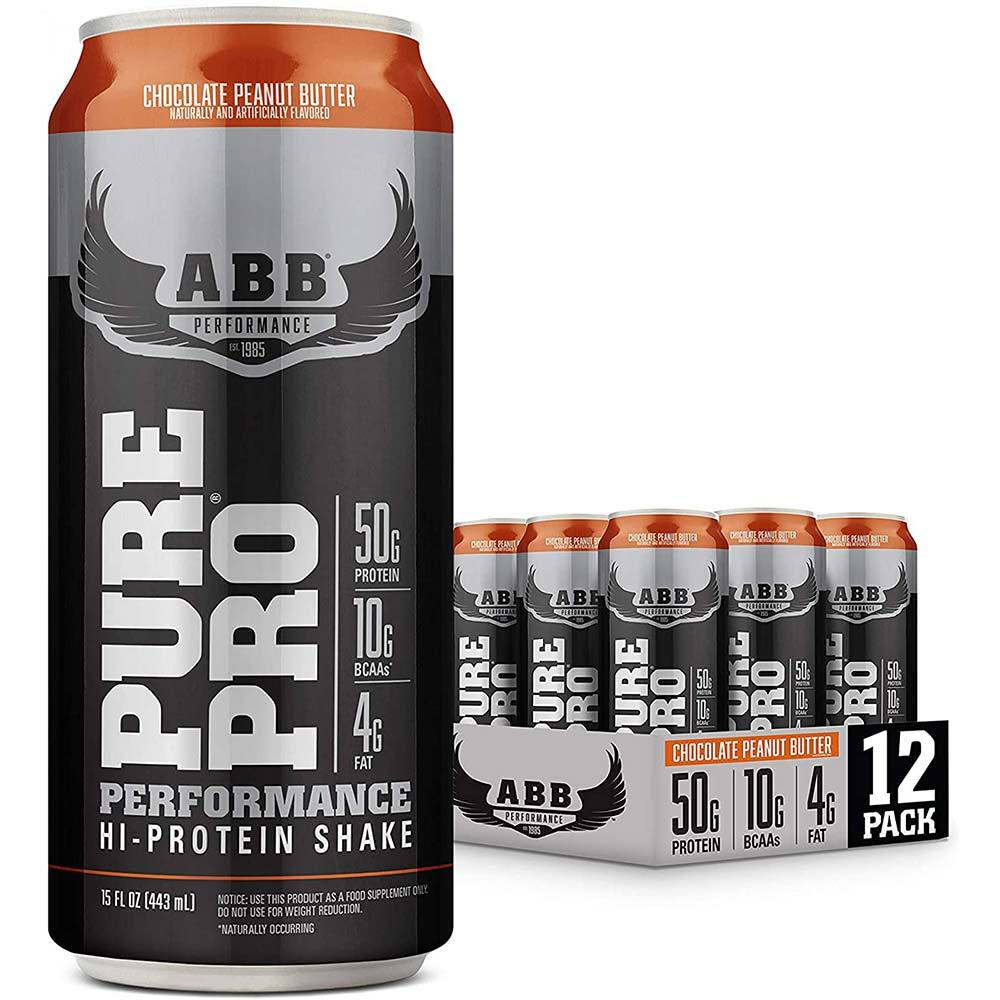 ABB Pure Pro 50 12/Case (15oz Cans) Drinks American BodyBuilding Peanut Butter Chocolate  (4586506551361)