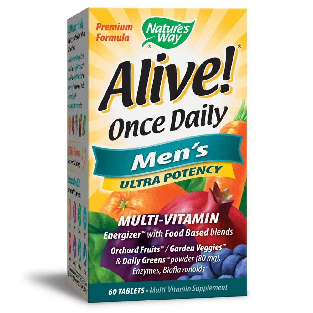 Nature's Way Alive! Once Daily Men's 60 Tabs Vitamins Nature's Way  (1058642559019)