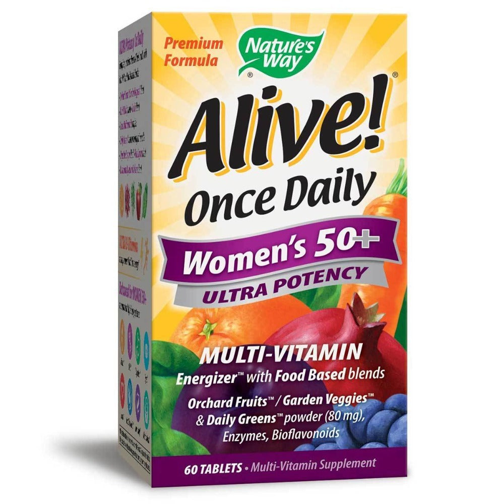 Nature's Way Alive! Once Daily Women's 50+ 60 Tabs Vitamins Nature's Way  (1058642722859)