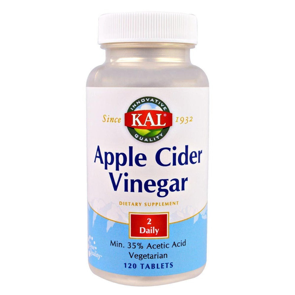 Kal Apple Cider Vinegar 120 Tabs Other Supplements Kal  (1057942929451)