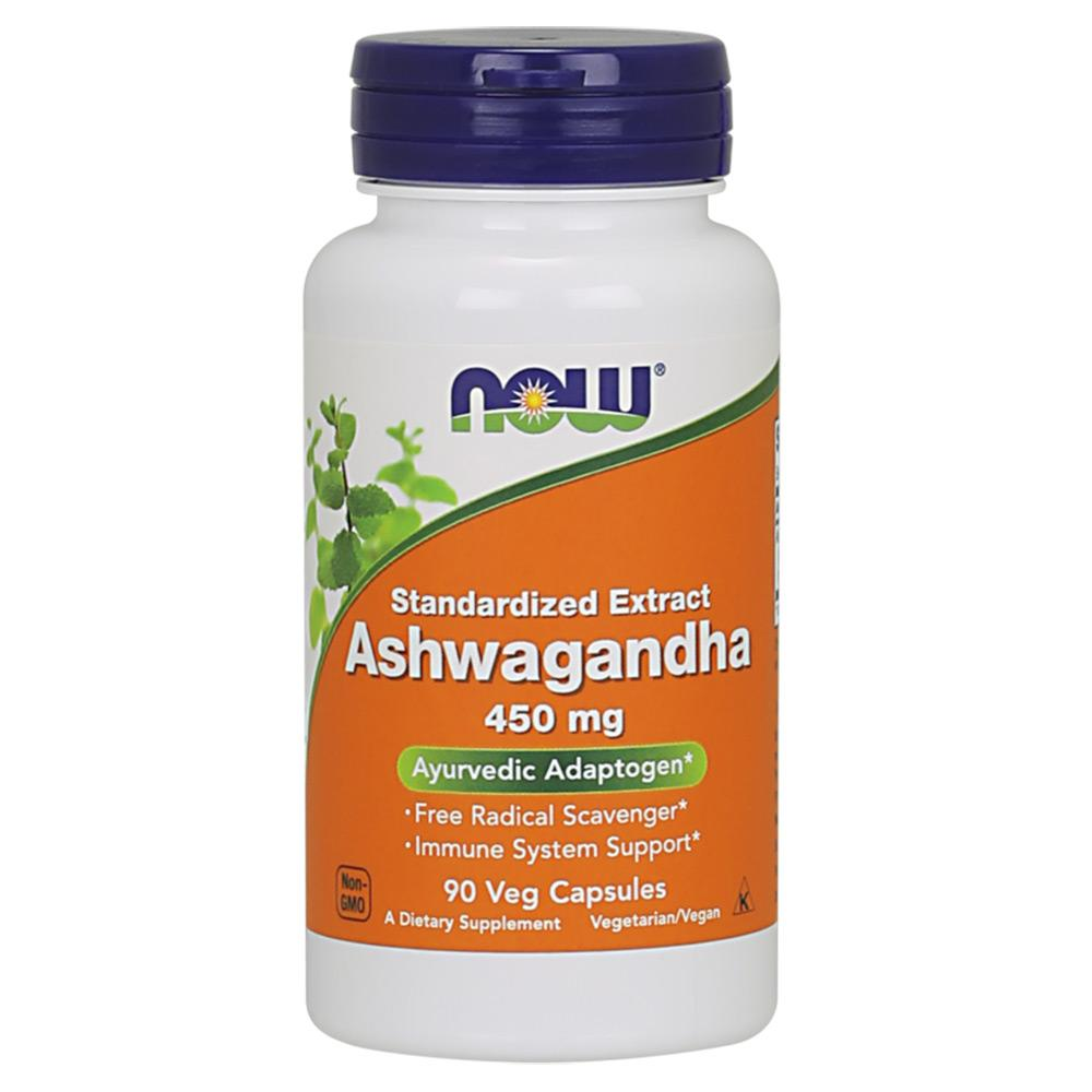 Now Foods Ashwagandha Ext 450 Mg 90 Vegetable Capsules Herbs Now Foods  (1059120971819)