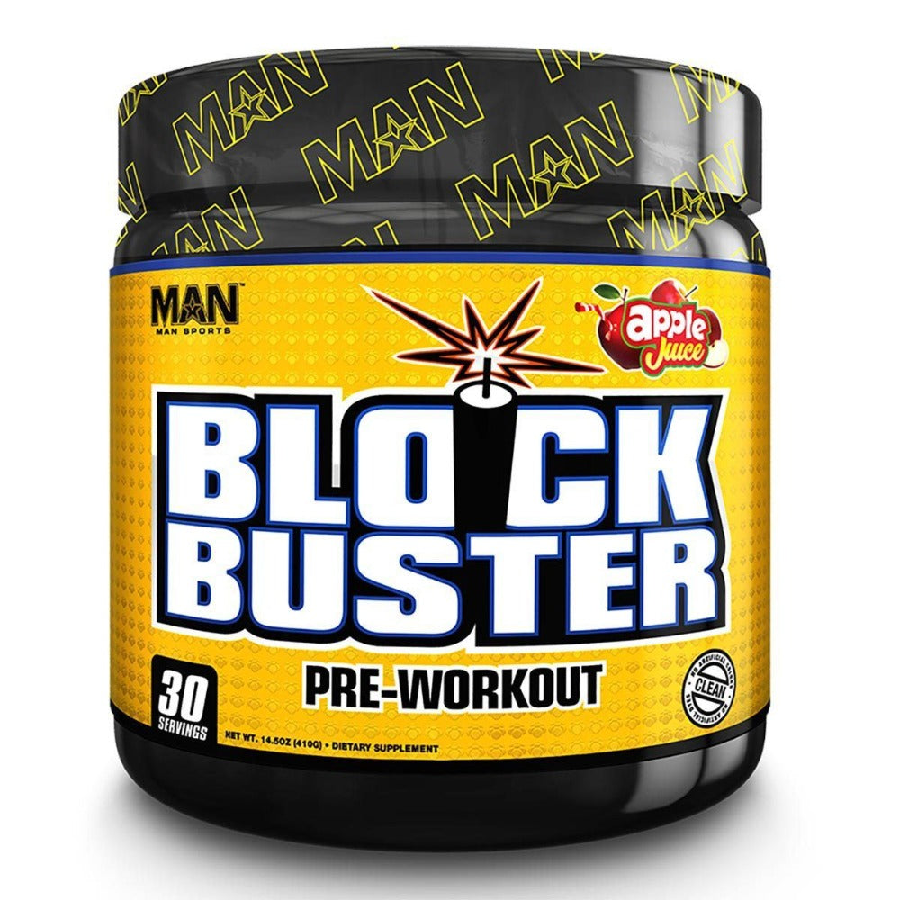 MAN Sports Blockbuster 30 Servings Pre-workout MAN Apple Juice  (1059345432619)