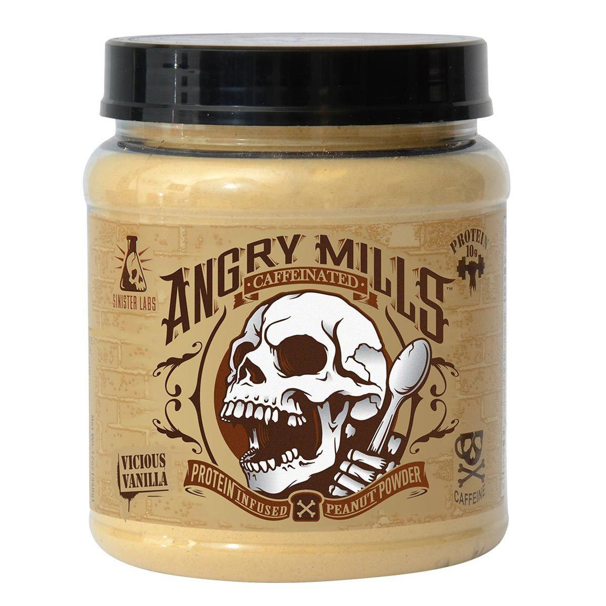 Sinister Labs Angry Mills Protein Infused Peanut Powder Caffeinated Vicious Vanilla Foods & Snacks Sinister Labs  (1059326459947)