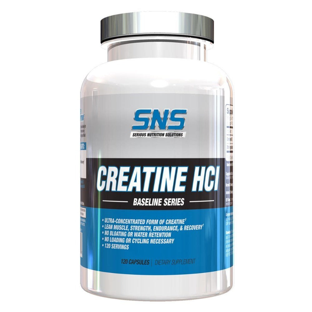 Serious Nutrition Solutions Creatine HCL 120 Caps Creatine Serious Nutrition Solutions  (1059278618667)