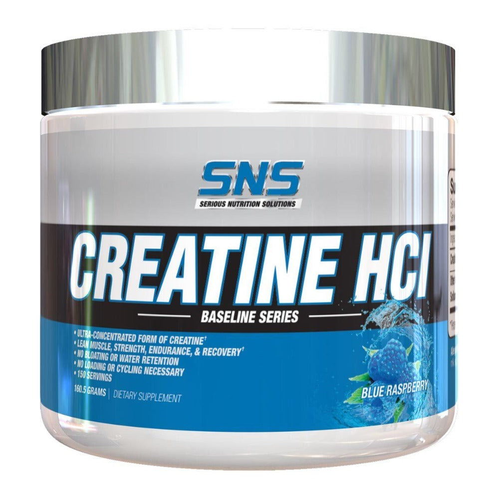 SNS Creatine HCL Blue Raspberry 150 Servings Creatine Serious Nutrition Solutions  (1811297763371)